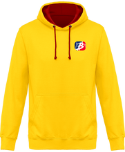 sweat league crypto france homme jaune & rouge feu le cryptopolitain