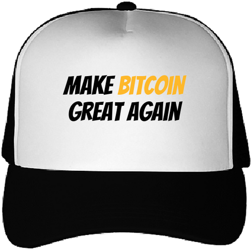 Casquette Bitcoin Make Bitcoin Great Again noir mate Le Cryptopolitain