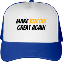 Casquette Bitcoin Make Bitcoin Great Again bleue clair Le Cryptopolitain