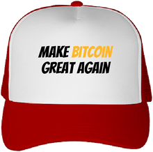 Casquette Bitcoin Make Bitcoin Great Again rouge Le Cryptopolitain