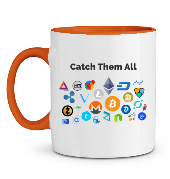 Mug Catch Them All Orange Le Cryptopolitain