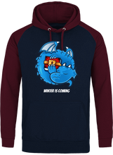 Sweat Dragonchain Winter is coming navy & burgundy le cryptopolitain