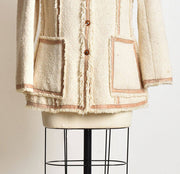 Raw Wool Coat