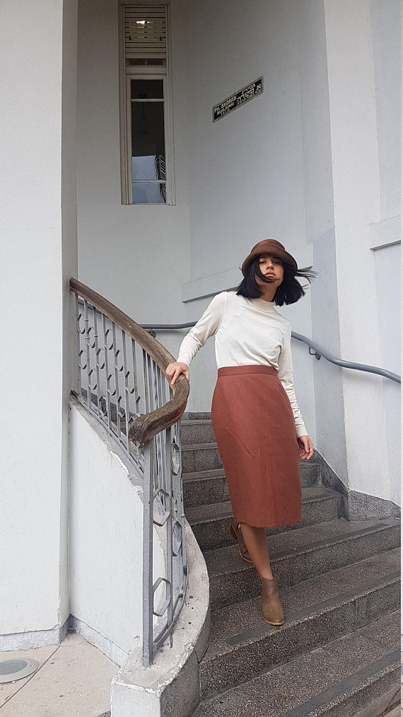 Côte d'Azur Pencil Skirt