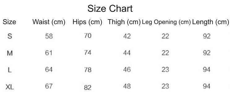 bohemian multicolored leggings size chart