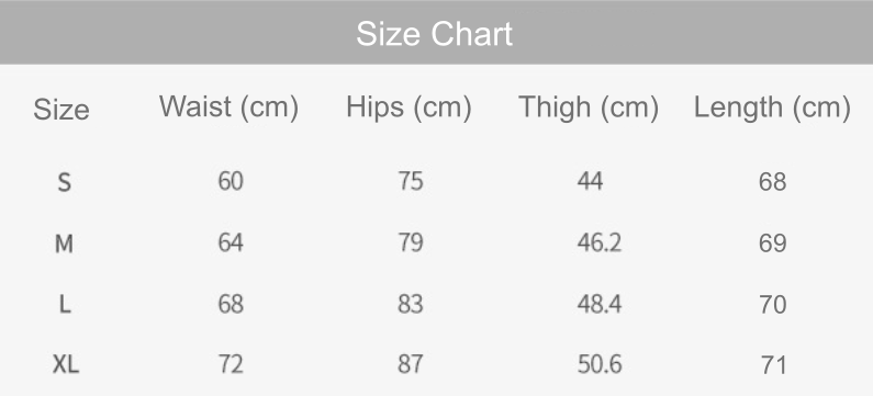 illusion cropped leggings size chart