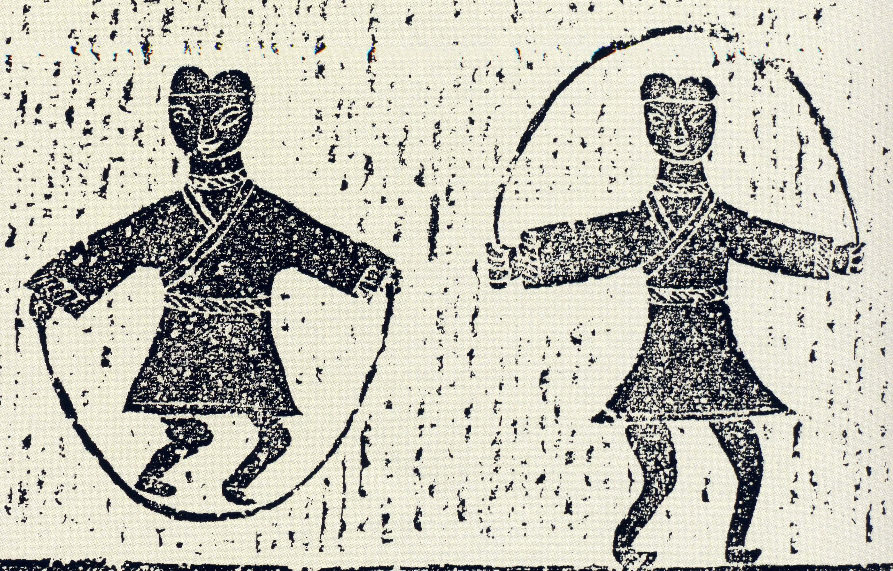 Part of a Mural from Chinese Han Dynasty Depicting the Activity of Rope Skipping. Looking for an Effective Cardio Home Workout? Try Rope Jumping! | Hummingbird