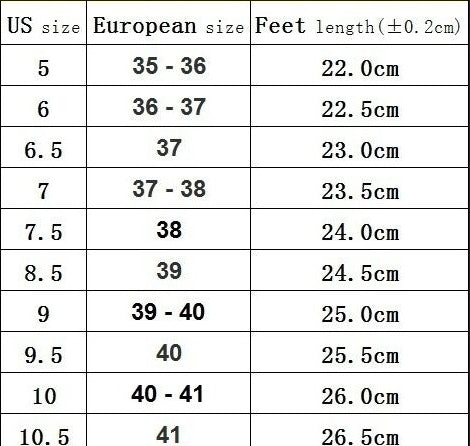 rope anklet flat leather sandals size chart