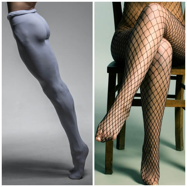 Male ballet dancer in tights and female in fishnet tights. What Exactly Is Cellulite, Can You Get Rid of It and How? | Hummingbird Blog