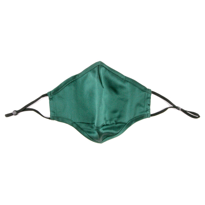 Hummingbird Adjustable Vintage Mulberry Silk Face Mask - Green. This 100% mulberry silk mask is skin friendly, breathable, smooth and soft. Unlike synthetic fabrics, natural silk does not cause allergies and discomfort to your skin. It helps retain moisture, maintains a healthy balance of skin water and oil, and prevents acne, or