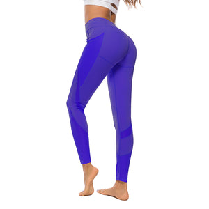 Hummingbird Mesh Pocket Cropped Leggings with outside mesh pockets for items like phones, cards, keys etc.