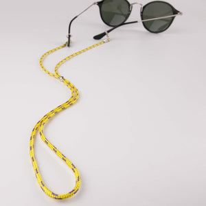 Keep your face masks and face covers close at hand with this Adjustable Face Mask Glasses Lanyard. This lanyard makes your mask more accessible and less prone to contamination when you are on a busy trail or sidewalk while jogging, biking, rollerskating, or running errands. 25 inches / 63 cm long, and with a stainless steal adjuster, it can be easily adjusted for a comfortable fit. It is lightweight and does not pull your mask down or strain your neck. Lobster clasps can attach to your face mask or glasses.