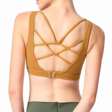 Load image into Gallery viewer, Hummingbird Adjustable Strappy Back Sports Bra