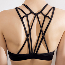 Load image into Gallery viewer, Hummingbird strappy Adjustable Web Sports Bra