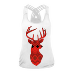 Hummingbird Argyll Deer Strappy Crisscross Tank Top