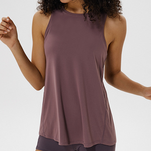 Hummingbird Back Lace Tank Top has two ways to wear and made of peached fabric which is smooth, breathable and sweat absorbent