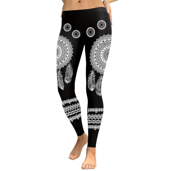 Hummingbird Bohemian Dreamcatcher Leggings made of soft, breathable and wicking fabric