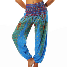 Load image into Gallery viewer, Hummingbird Bohemian Loose Yoga Pants, made of fast dry, soft and breathable material, perfect for meditation, dancing, yoga, summer vacation and street wear
