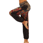 Hummingbird Bohemian Loose Yoga Pants, made of fast dry, soft and breathable material, perfect for meditation, dancing, yoga, summer vacation and street wear