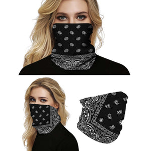 This Bohemian Printed Multifunctional Neck Gaiter is so versatile that there are 16+ ways to wear it - neckerchief, headband, wristband, mask, hair-band, balaclava, face mask, face scarf, seamless mask, beanie, bandana, mouth mask, neck gaiter and more. Perfect for all sorts of outdoor activities including hiking, fishing, skiing, cycling, skating etc with UV protection and odor control.