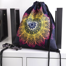 Load image into Gallery viewer, Hummingbird Bohemian Drawstring Gym Bag (4 Patterns) - Flame