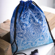 Load image into Gallery viewer, Hummingbird Bohemian Drawstring Gym Bag (4 Patterns) - Blue