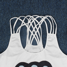 Load image into Gallery viewer, Hummingbird Brain Dead Strappy Crisscross Tank Top - Detail