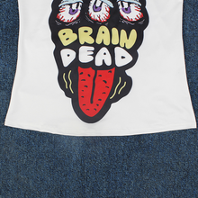 Load image into Gallery viewer, Hummingbird Brain Dead Strappy Crisscross Tank Top - Details