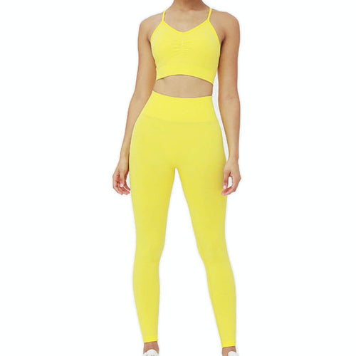Hummingbird Candy Scrunch Seamless Sports Set - Lemon