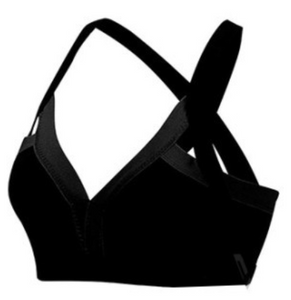 Contrast Color Wide Strap Sports Bra (3 Colors)