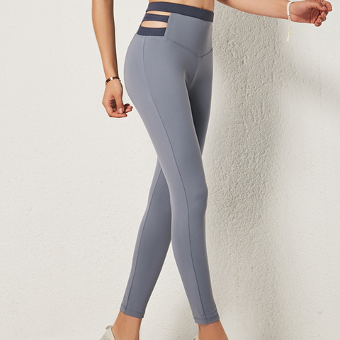 Contrast & Strap Sports Leggings