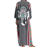 Hummingbird Elephant Cover Up long with three-quarter length sleeves, suitable for beach wear or street wear