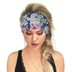 Hummingbird Floral - A Print Multifunctional Headband offers a secure fit to hold your hair back, and along with moisture-wicking fabric, allows you to stay fresh and focused on your workout. Perfect for all sorts of workout activities. Also suitable for daily wear as a hair band, head wrap, bandana, face cover, morning makeup and nighttime moisturizing.
