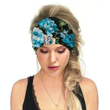 Load image into Gallery viewer, Hummingbird Floral - D Print Multifunctional Headband offers a secure fit to hold your hair back, and along with moisture-wicking fabric, allows you to stay fresh and focused on your workout. Perfect for all sorts of workout activities. Also suitable for daily wear as a hair band, head wrap, bandana, face cover, morning makeup and nighttime moisturizing.
