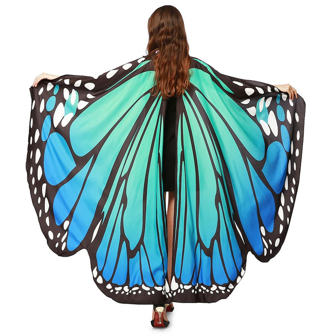 Complete your butterfly fairy look with these Hummingbird Flowy Butterfly Wings For Adults Kids - Blue Green. Featuring beautiful one-side printed butterfly wings with choker and elastic finger holders, these butterfly wings can be used as a costume that makes you stand out at parties like Halloween, Christmas, birthdays and more. Can also be used as a beach cover up. Made of high quality, light, soft, skin-friendly and nonfading material.