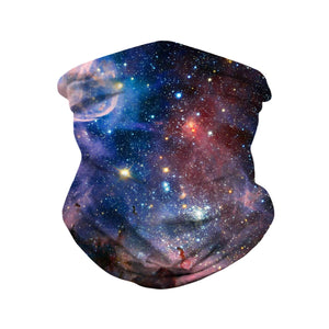 Hummingbird Seamless Galaxy Bandana Face Mask - Galaxy D