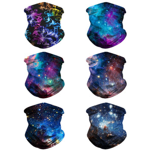 Hummingbird Seamless Galaxy Bandana Face Mask - A Set of Six (50% OFF)