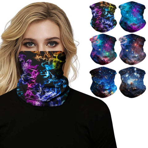 Hummingbird Seamless Galaxy Bandana Face Mask (6 Patterns)