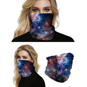 This Galaxy Print Multifunctional Neck Gaiter - Galaxy D is so versatile that there are 16+ ways to wear it - neckerchief, headband, wristband, mask, hair-band, balaclava, face mask, face scarf, seamless mask, beanie, bandana, mouth mask, neck gaiter and more. Perfect for all sorts of outdoor activities including hiking, fishing, skiing, cycling, skating etc with UV protection and odor control.