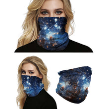 Load image into Gallery viewer, Hummingbird Seamless Galaxy Bandana Face Mask - Galaxy F