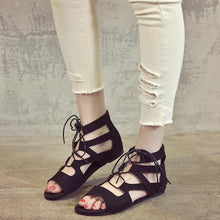 Load image into Gallery viewer, Hummingbird Zip Back Flat Gladiator Sandals