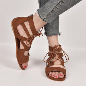 Hummingbird Zip Back Flat Gladiator Sandals