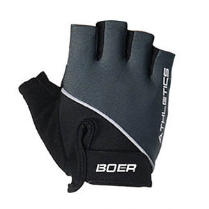 Say no to calluses, germs and hand fatigue with a pair of Half Finger Light Training Workout Gloves - Black. Textured PU leather provides a firm grip on the bar. Padded faux suede in lower thumb adds additional cushioning and further prevents blisters or calluses. Rest of palm is stretchy and wicks moisture. Soft stretchy top and velcro give a custom fit. Terry cloth thumb removes perspiration. Faux suede pull tabs provide easy removal. Soft and form-fitting, suitable for weight training, spinning and more.