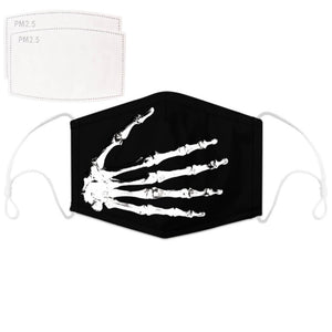 Enjoy Halloween while protecting yourself and others with this Halloween Printed Reusable Adjustable Face Mask - Skeleton Hand. Worrying that face masks will get in the way of your Halloween look? You don't have to. This ready to go Halloween Printed Reusable Adjustable Face Mask allows you to enjoy this Halloween without compromising your look. Belongs to our Halloween Specials collection. Check out more face masks and face covers HERE. Shop our lanyards for face masks and glasses HERE.