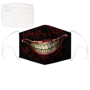 Enjoy Halloween while protecting yourself and others with this Halloween Printed Reusable Adjustable Face Mask - Black Joker Smile. Worrying that face masks will get in the way of your Halloween look? You don't have to. This ready to go Halloween Printed Reusable Adjustable Face Mask allows you to enjoy this Halloween without compromising your look. Belongs to our Halloween Specials collection. Check out more face masks and face covers HERE. Shop our lanyards for face masks and glasses HERE.