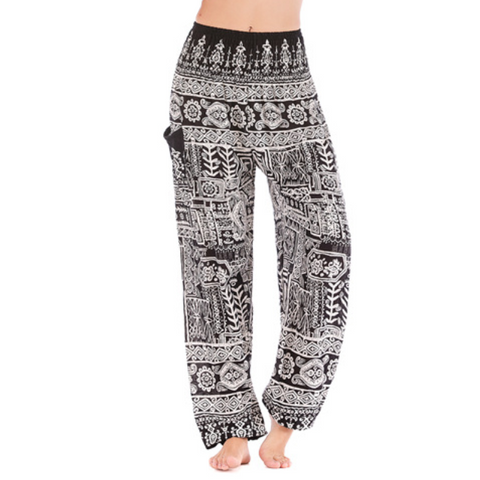 Hummingbird Handmade Tribal Print Loose Yoga Pants (2 styles 3 colors)