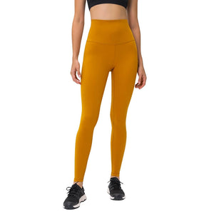 Complete the studio to street look with these Solid High Waist Hidden Pocket Leggings - Pumpkin Blush. Featuring high rise waistband with a hidden key pocket, these fitted workout leggings are perfect for yoga, weightlifting, jogging and more, as well as running errands. Buttery soft material with a brushed feel is breathable and moisture-wicking. Ultra high waist is a perfect match with longline crop tops like our V Neck Crop Tank Longline Sports Bra.