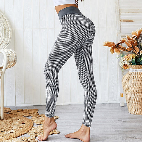 Hummingbird High-rise Booty Scrunch Ribbed Cropped Leggings