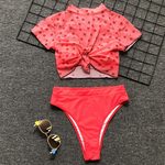 Knot Tied Three Piece Bikini Set