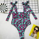 Hummingbird LOVE Bow One Piece with high-cut design